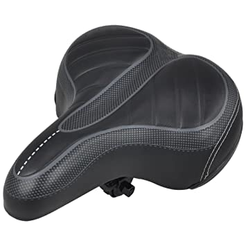 Hollow Wide Big Bum Bicycle Gel Cruiser Extra Sporty Soft Pad Saddle Seat