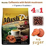 MushDe Instant 4 in 1 Reishi Mushroom coffee mix no sugar Healthy drink (sweet from sucralose)