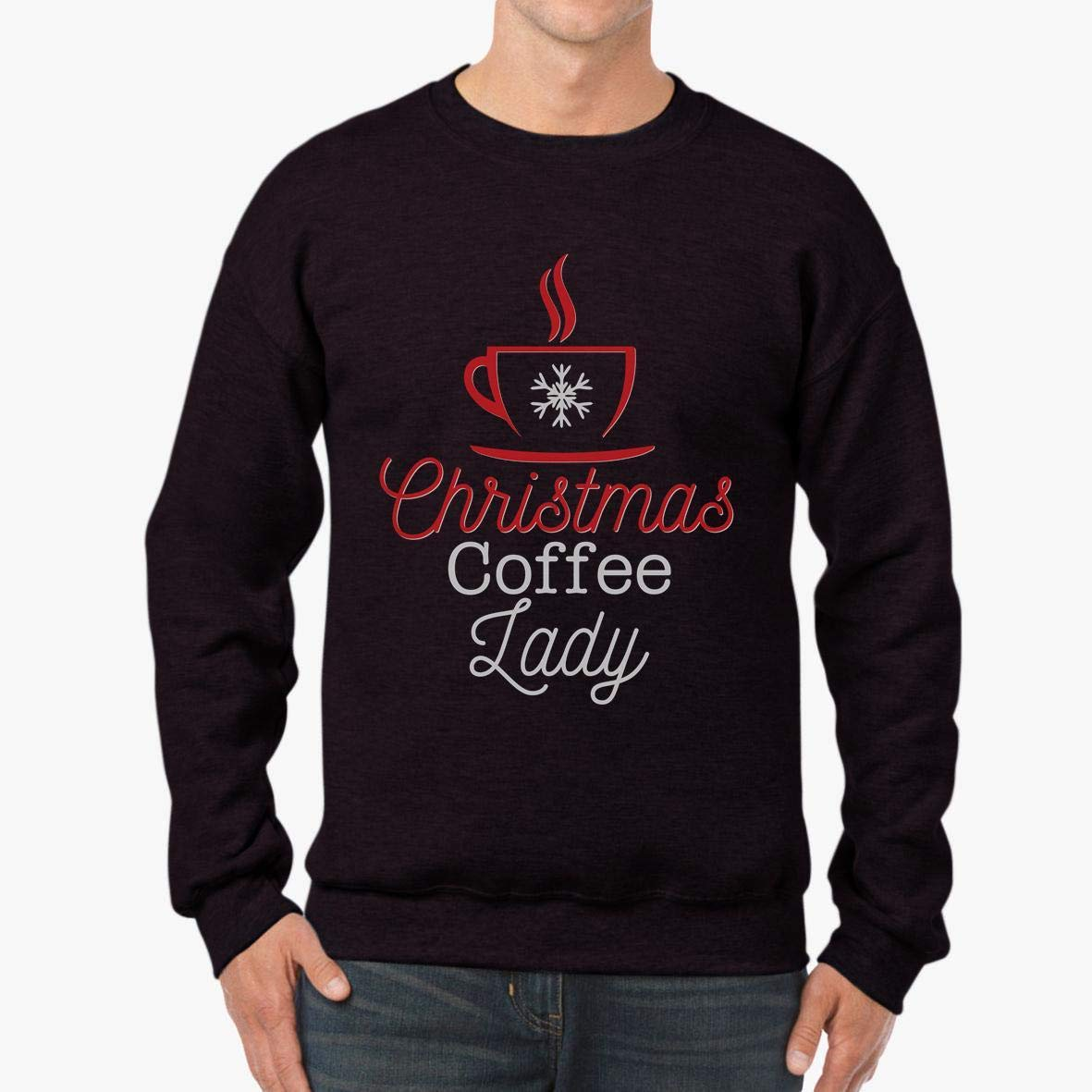 tee Doryti Christmas Coffee Lady Unisex Sweatshirt
