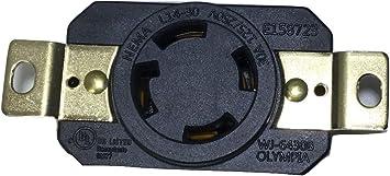UL approuvé L14-30P Nema L14-30R 30 A 125V-250V Verrouillage mâle Récipient femelle
