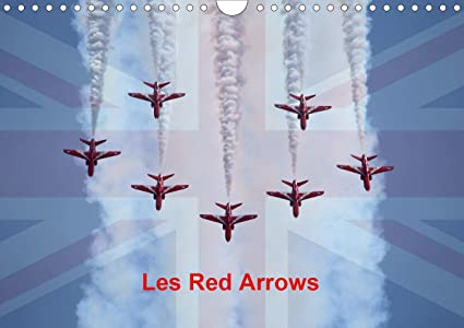 Les Red Arrows Calendrier mural 2021 DIN A4 horizontal: Amazon.fr