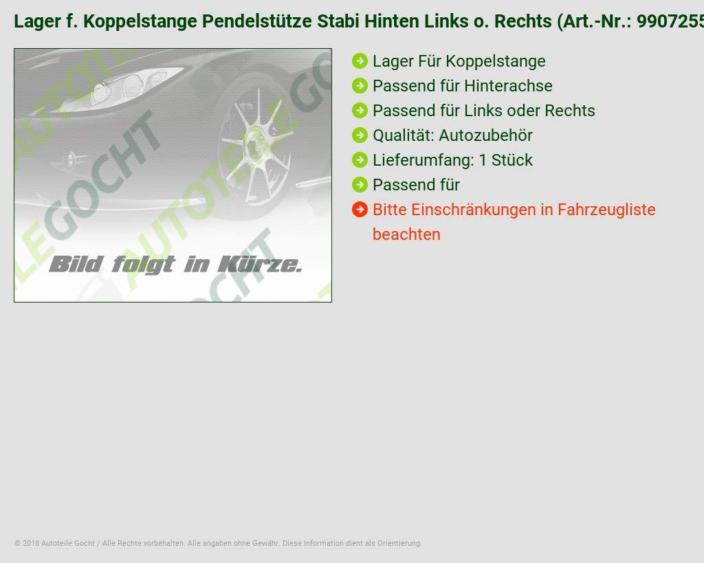 Rechts für TEKNOROT Lager f Koppelstange Pendelstütze Stabi Hinten Links o