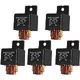 Ehdis [5 Stück 5-Pin JD2912-1Z-12VDC 80A 14VDC SPDT-LKW-Boot Van Fahrzeug Auto Relais 12V-Schalter
