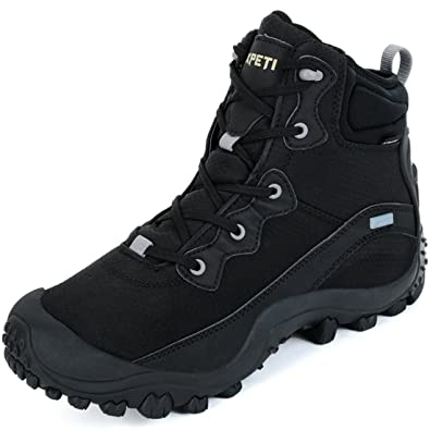 XPETI Women s Dimo Mid Waterproof Breathable Hiking Anti-Slip Outdoor Boot  Black 6 c28f41b705