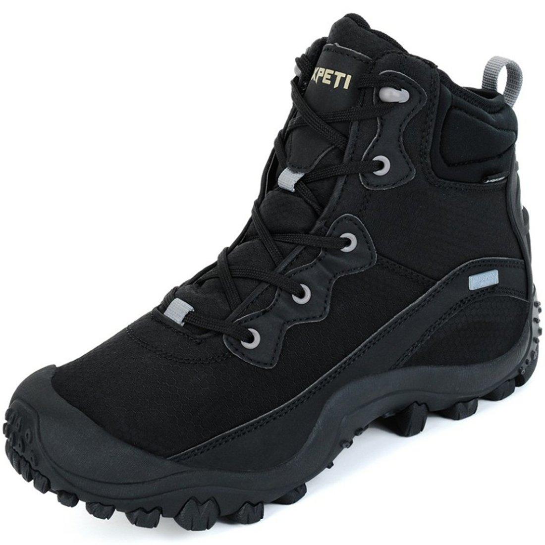 XPETI Women's Waterproof Mid Hiking Outdoor Boot (8 B(M) US, Black)