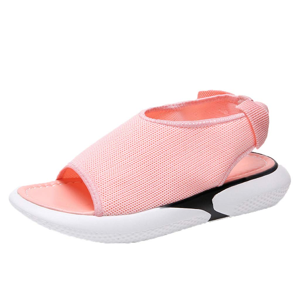 Lurryly Sandals for Women,Flat Bottom Wild Thick Bottom Casual Fish Mouth Sport Sandals