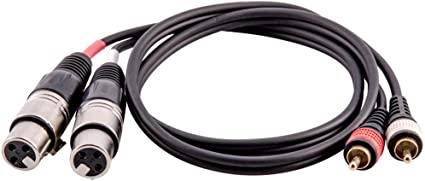 Each 6 Pyle PPRCX05 Dual Audio Link Cable XLR Female to RCA Male 5Ft Lot of