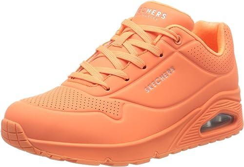Skechers Uno- Night Shades, Zapatillas para Mujer, Naranja (Orange ...