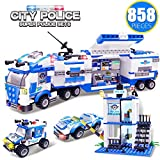 WishaLife City Police, City Police Mobile Command Center Truck Building Toy, Police Car Toy, City...
