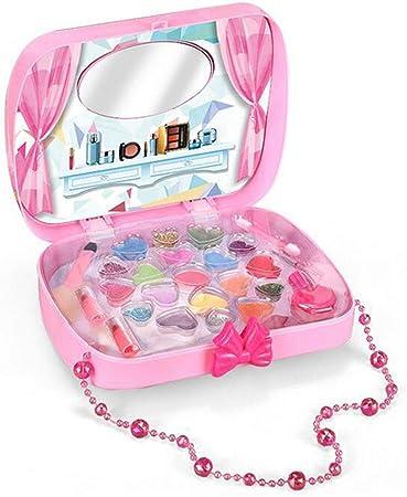 Christophy Juguetes de maquillaje para niñas y niñas, juguete de belleza cosmética, estuche de transporte para fingir secador de pelo, bolsa de juegos de rol: Amazon.es: Hogar