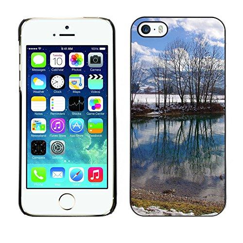 Premio Sottile Slim Cassa Custodia Case Cover Shell // F00016850 hiver réflexion // Apple iPhone 5 5S 5G