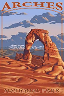 product image for Arches National Park, Utah - Delicate Arch (36x54 Giclee Gallery Print, Wall Decor Travel Poster)