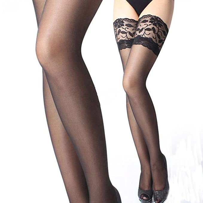 a0faa93b1d124 10 Pairs Women Sexy Lace Top Stay Up Thigh High Stockings Nightclubs  Pantyhose Long Socks (