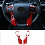 Car ABS Steering Wheel Moulding Chrome Cover Trims Stickers Fit for Toyota Tacoma 2015-2020 Tundra 4Runner 2010-2019…