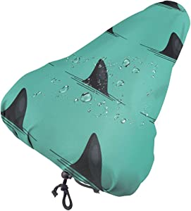 NOT Beautiful Snow in Winter Bike Seat Cover with Drawstring Rainproof Dustproof Saddle Cover