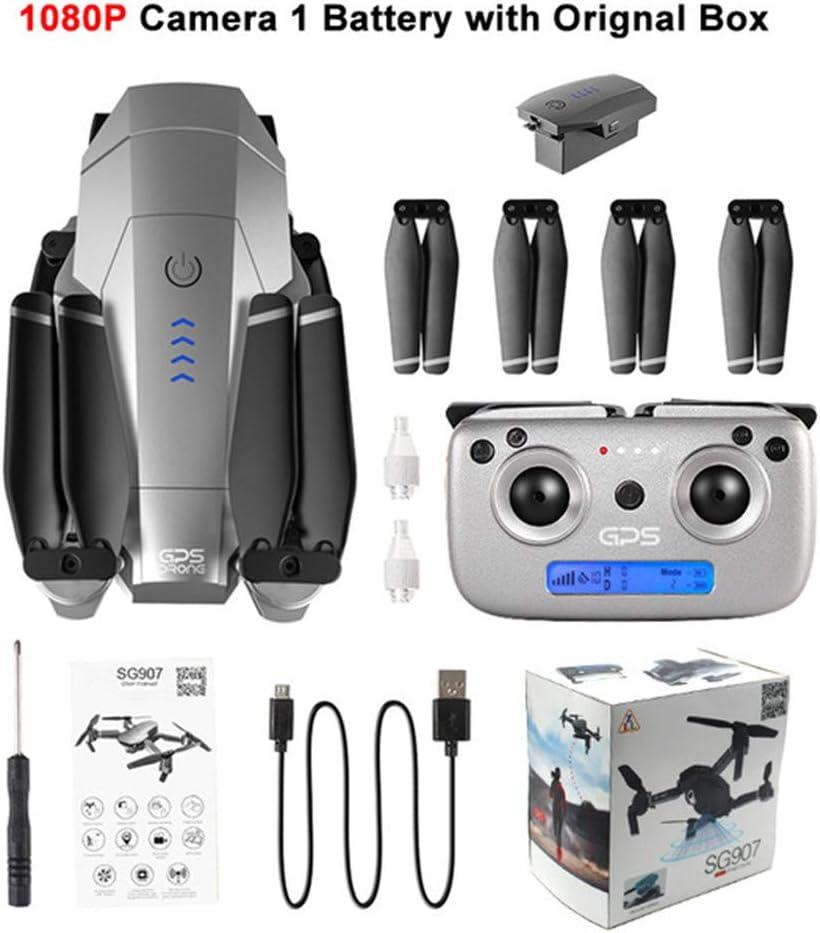 SG907 Drone GPS avec 4K 1080P HD double cam/éra 5G Wifi RC Quadcopter flux optique Positionnement Mini drone pliable VS E520S E58 Bo/îte de couleur 1080P une pile