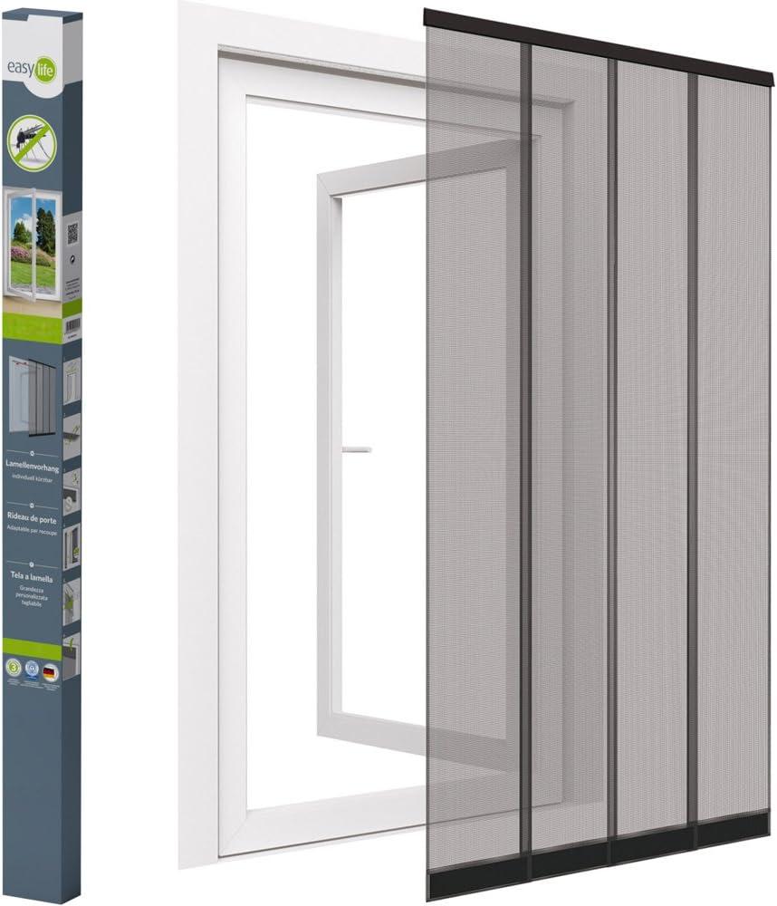 easy life mosquitera para puerta 100 x 220 cm Color de PVC pinza, cosidos pesas y discos de fibra de vidrio