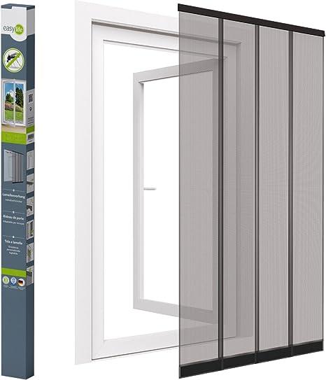 easy life mosquitera para puerta 100 x 220 cm Color de PVC pinza, cosidos pesas y discos de fibra de vidrio: Amazon.es: Hogar