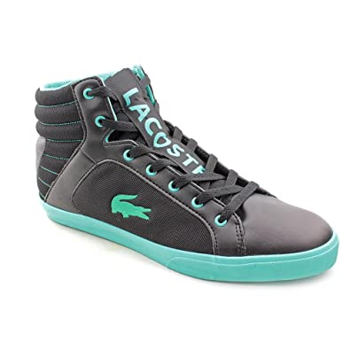 5796afe24635 Lacoste Courtiser Mens Black Sneakers Shoes Size UK 9.5  Amazon.co.uk  Shoes    Bags