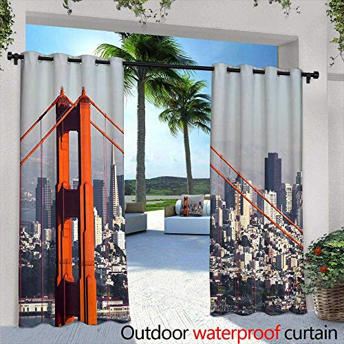 - Lightly Exterior/Outside Curtains,Fleur de lis Wallpaper Pattern,W96 x L96 Outdoor Privacy Porch Curtains