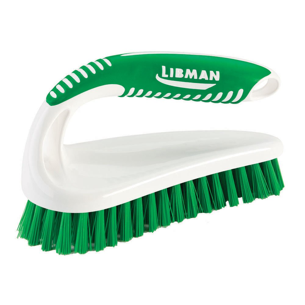 Libman Commercial 57 Power Scrub Brush, Polypropylene, 7'' x 2.5'' scrubbing Surface, Green and White (Pack of 6)