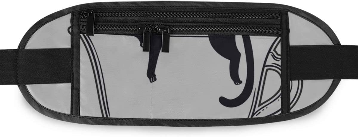 Cat Sleeping On Cup Tea Coffee Running Lumbar Pack For Travel Outdoor Sports Walking Travel Waist Pack,travel Pocket With Adjustable Belt