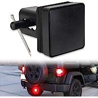 "Hitch Lights 15 LEDs Black Lens 2ND Trailer LED Brake Tail Light Cover with Strobe Mode Fit 2"" Receiver Truck SUV Pickup…"