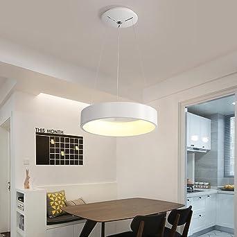 Modern Elegant 24W LED Pendelleuchte Kreativ Weiß Runden Ring Entwurf  Pendellampe Für Schlafzimmer Küche Insel Esszimmer