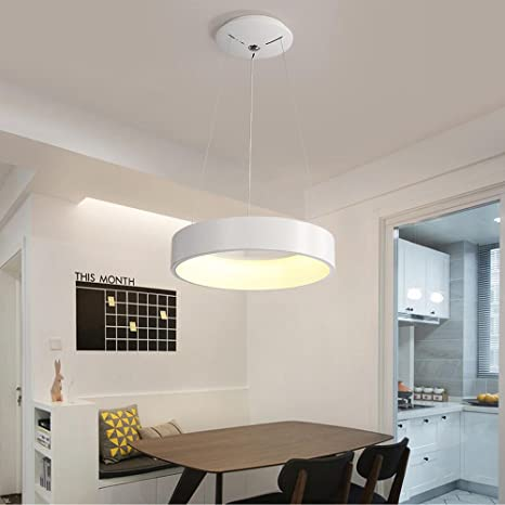 Moderno Elegante 24W LED Colgante de luz Creativo Blanco ...