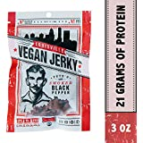 Louisville Vegan Jerky - Smoked Black Pepper, Protein Source for Vegans and Vegetarians, 21 Grams of Non-GMO Soy Protein, Gluten-Free Ingredients (3 oz.)