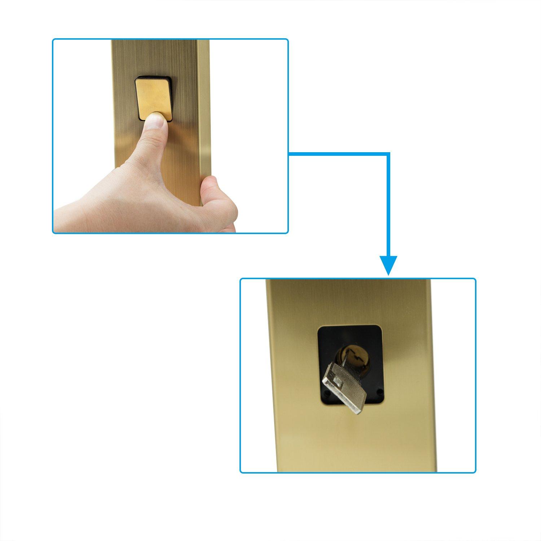 Emsmil Biom/étrica Fingerprint Huella Cerradura la Puerta 4 en 1 Electr/ónica Keyless Lockless Inducci/ón de la Casa Inteligente Digital Contrase/ña con 3pcs Tarjetas de RFID Zurdo Mano Derecha de Plata