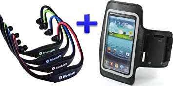 Auricular inalámbrico Bluetooth Deportivos (Color Negro) + Brazalete Neopreno Deportivo (Negro) para Smartphone Bq Aquaris 5 para Correr/Running/Deporte: Amazon.es: Electrónica