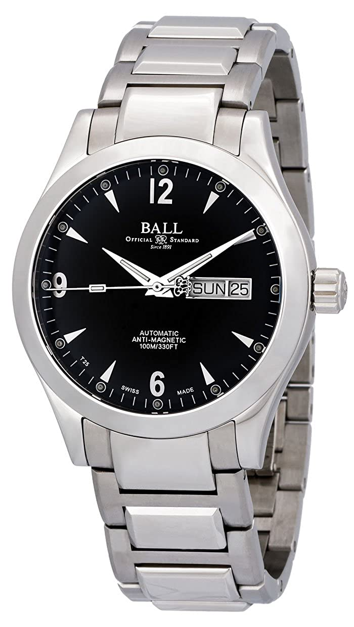 7f9bf6f23 Amazon.com: Ball Engineer II Ohio Automatic Steel Mens Watch Black Dial Day  Date NM2026C-S5J-BK: Watches