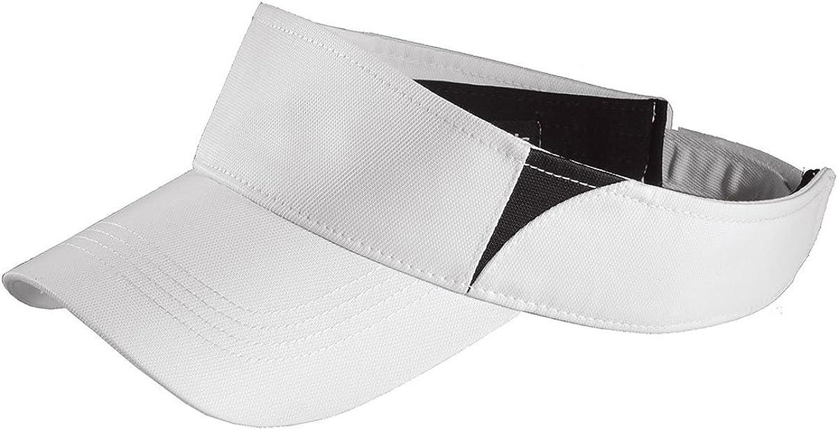 White//Black STC13 OS Sport-Tek Dry Zone Colorblock Wicking Visor