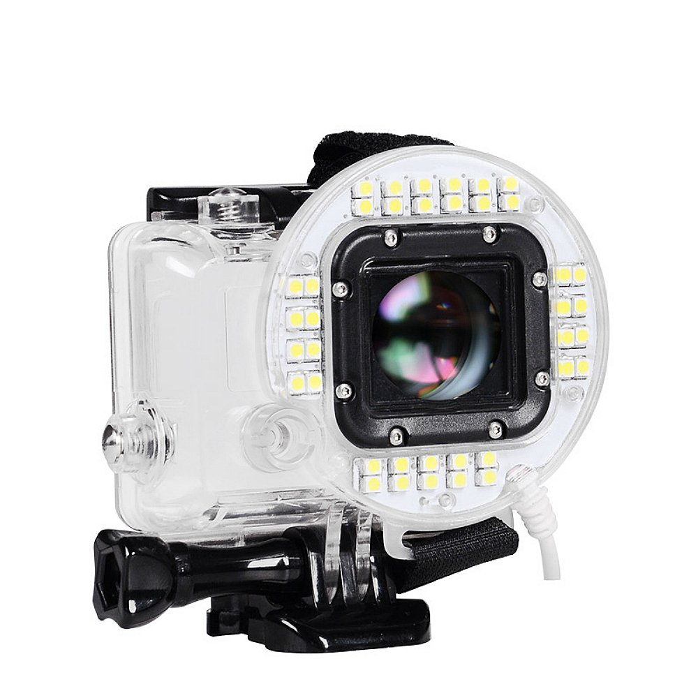 Tolifo 38 LED USB Port Ring Shooting Night Flash Light is Compatible with GoPro Hero 4 Session.