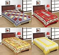 Uniqchoice Rajasthani Traditional 100 Cotton 4 Single Bedsh