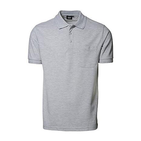 ID - Polo à manches courtes et poche (coupe régulière) - Homme (6XL) (Bleu clair) 3GnOLv