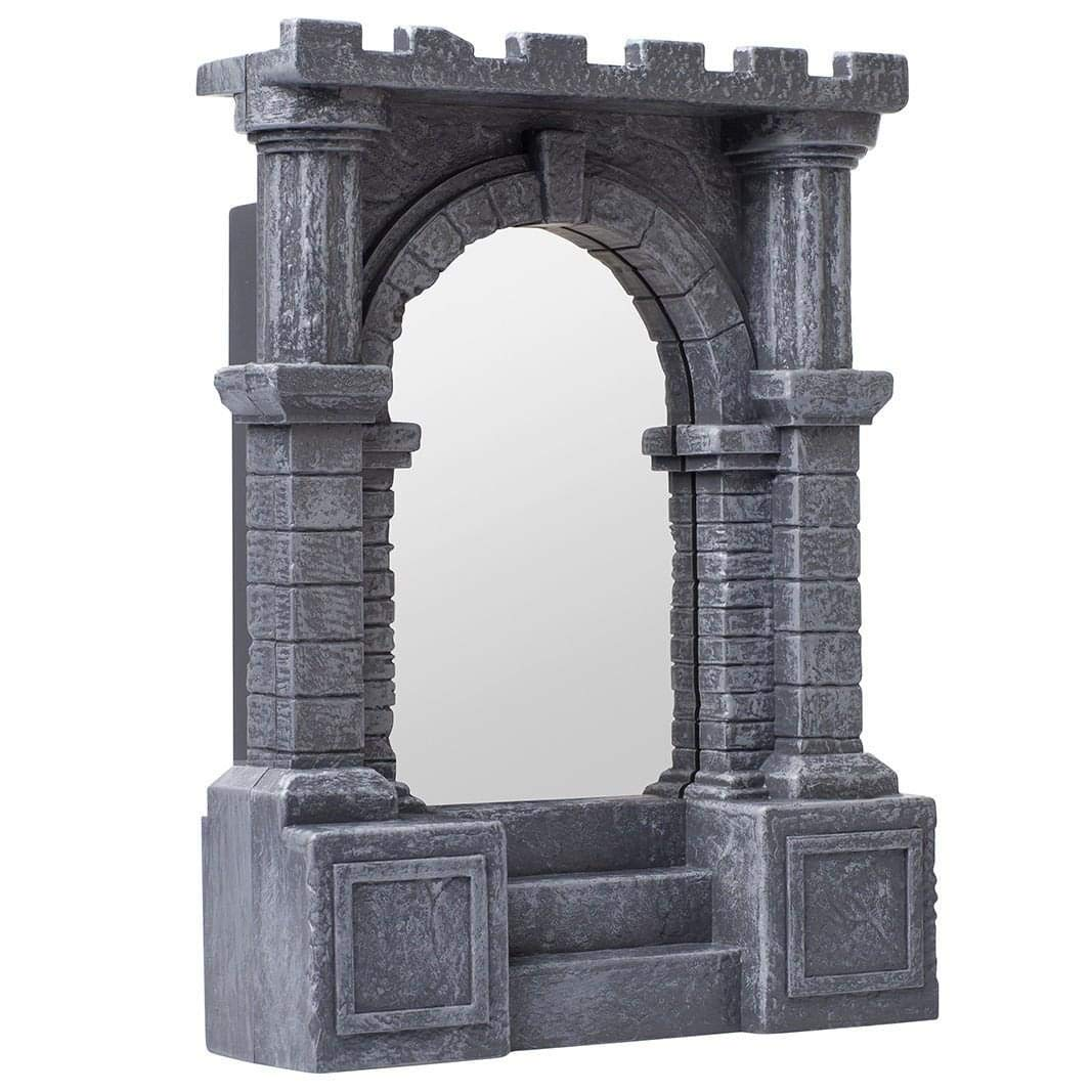 ThinkGeek Infinite Illuminated-Torch-Lined Dungeon Corridor Infinity Mirror – Geeky Desk or Wall Accessory – A ThinkGeek Creation and Exclusive
