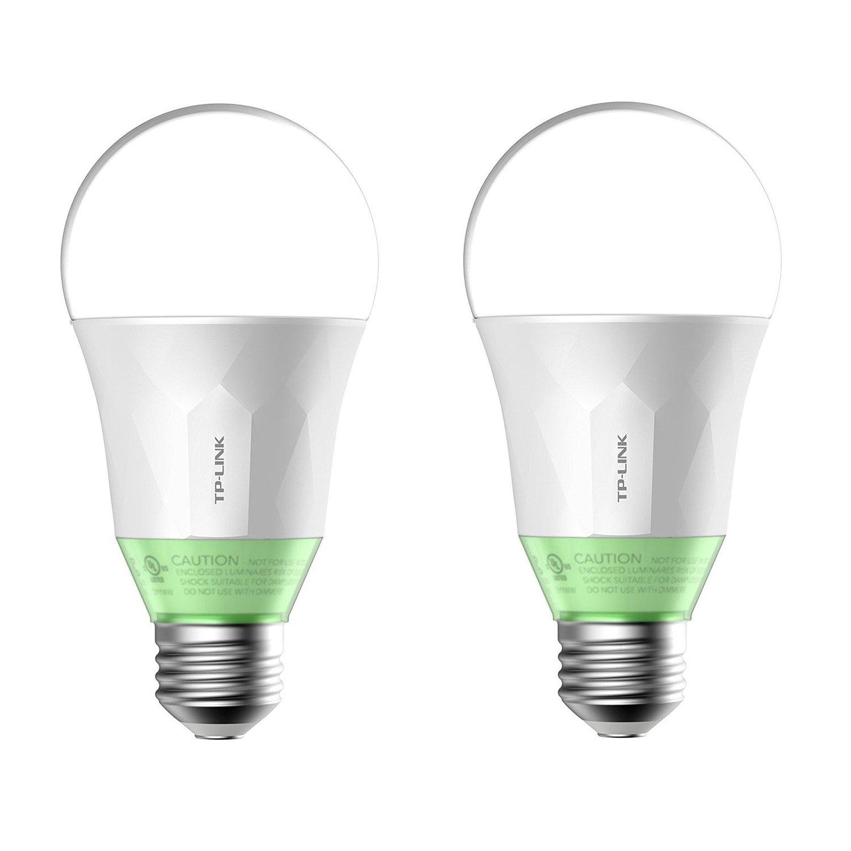 Kasa Smart Wi-Fi LED Light Bulb by TP-Link - Soft White (800lm) - 2 Pack (LB110)