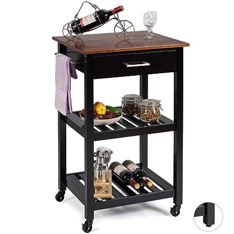 Amazon.com - Giantex Kitchen Island Cart Multifunction ...