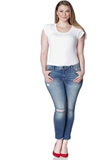 be6f4b796c5 SLINK Jeans Women s Plus Size Danika Ankle Jean at Amazon Women s ...