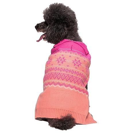 Amazon.com : Blueberry Pet 3 Patterns Pink Cardigan Style Dog ...
