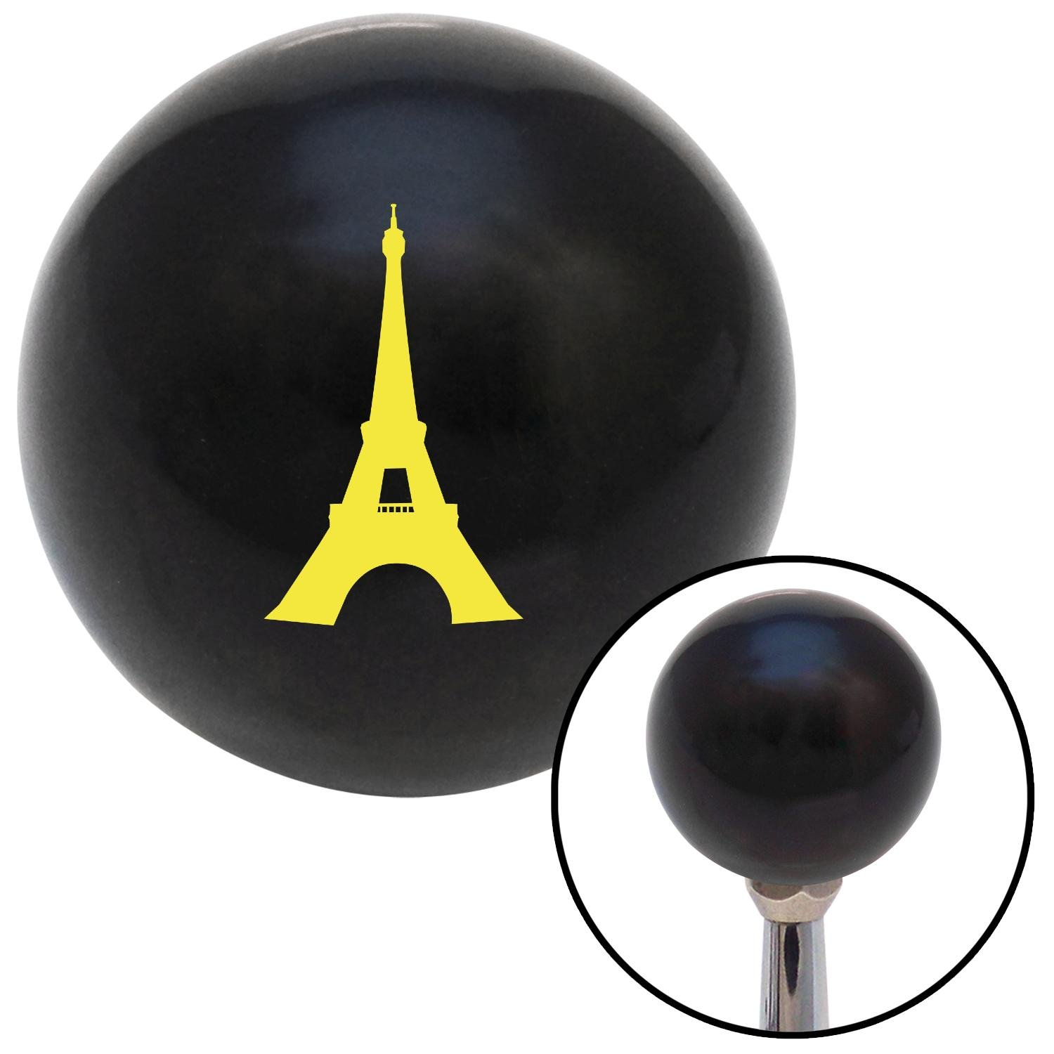 American Shifter 103552 Black Shift Knob with M16 x 1.5 Insert Yellow The Eiffel Tower