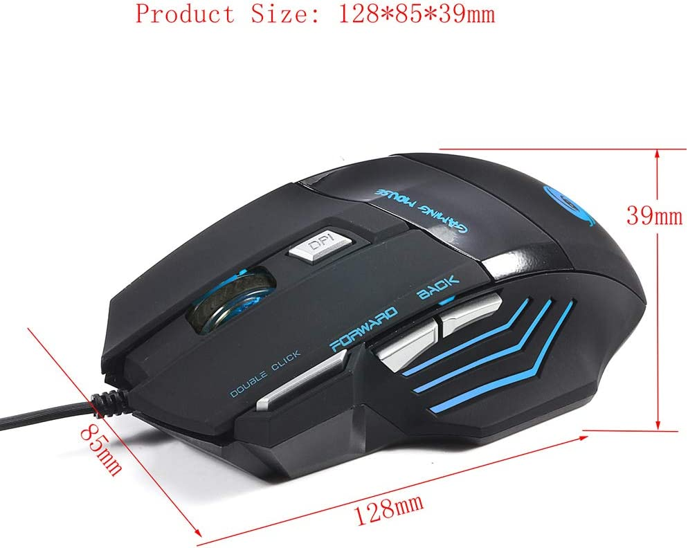 BAIYI Gaming Mouse Work and Games,B Optical Engine Precise Positioning DPI Adjustable Smart Connection Plug and Play Suitable for