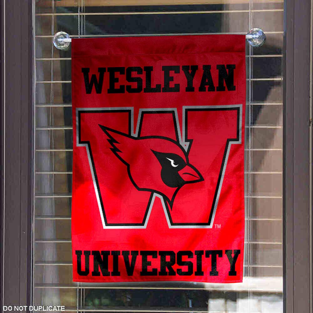 College Flags and Banners Co Wesleyan Cardinals Garden Flag