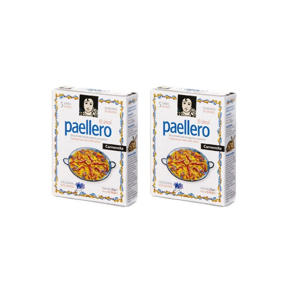 Paellero Paella Seasoning from Spain (5 packets) (Pack of 2)