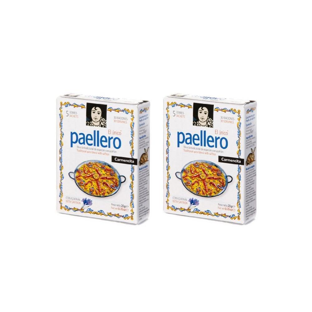 Paellero Paella Seasoning from Spain (5 packets) (Pack of 2)