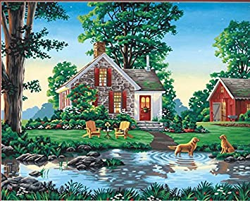 Dimensions Paint By Number Kit Summer Cottage 16 Inch 20