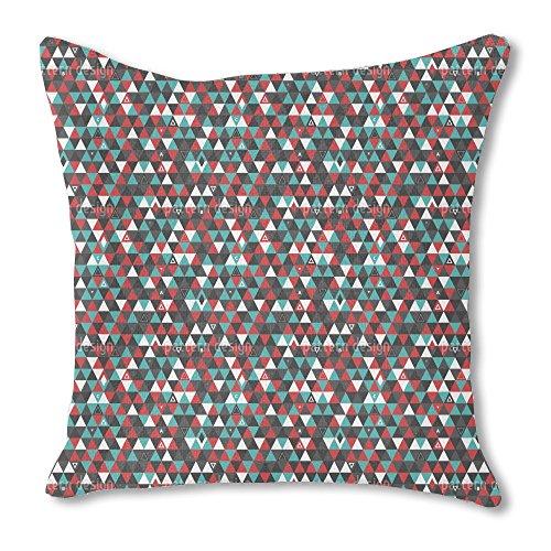 Modern Patchwork Triangles 16X16 Burlap Pillow Custom Printe