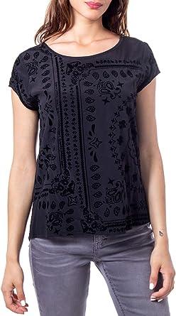 Desigual Blusa donna blus muih 19wwbw42 xs negro: Amazon.es: Ropa y accesorios